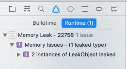 Visual Memory Debugger - memory leak notofication