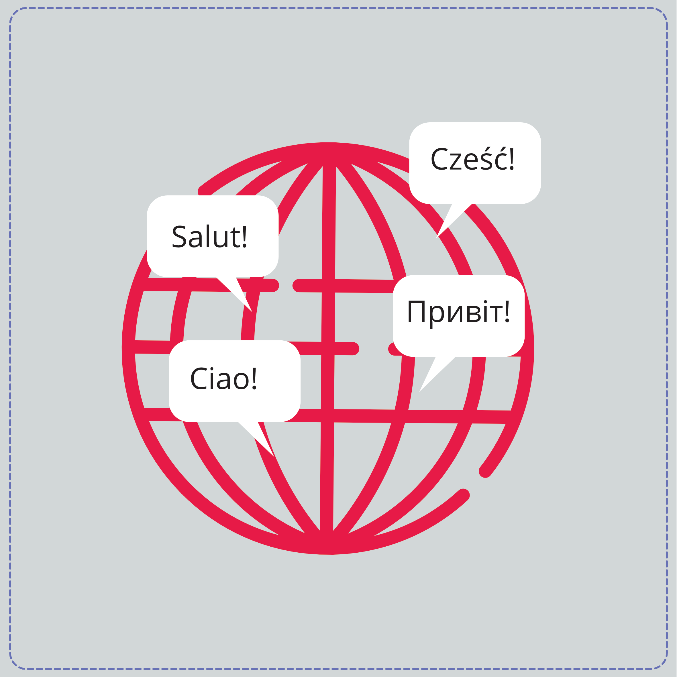 Localized content in different languages